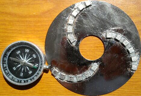 диск с 3-мя спиральными полосами по 6 магнитов